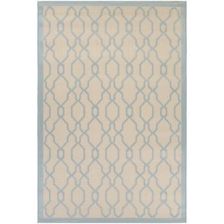 Couristan Five Seasons Byron Bay Cream/ Blue Area Rug (4'11 x 7'6)