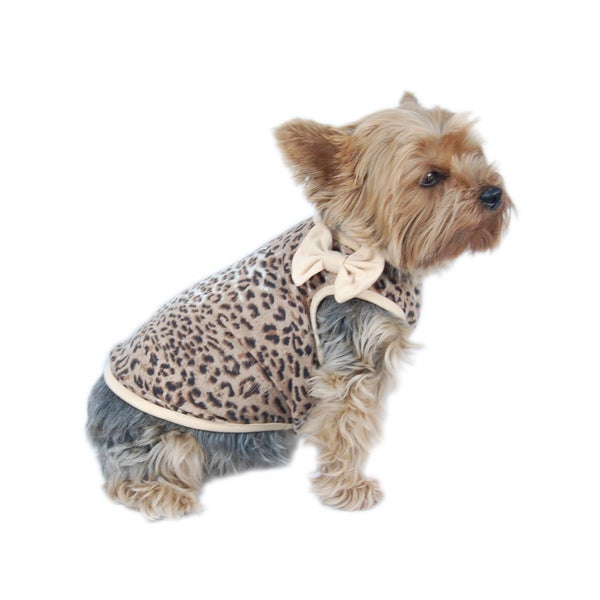 ANIMA Wild and Fun Leopard Print Cotton Print Pet Shirt