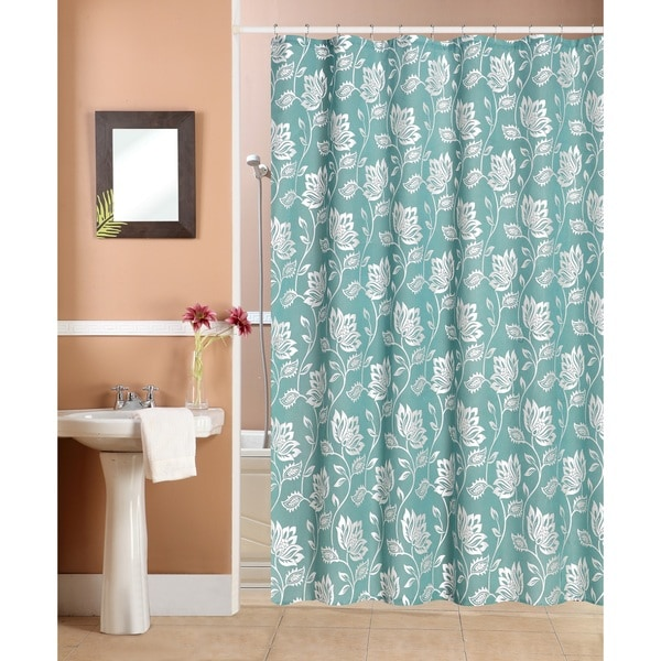 Fiona Flocking Shower Curtain