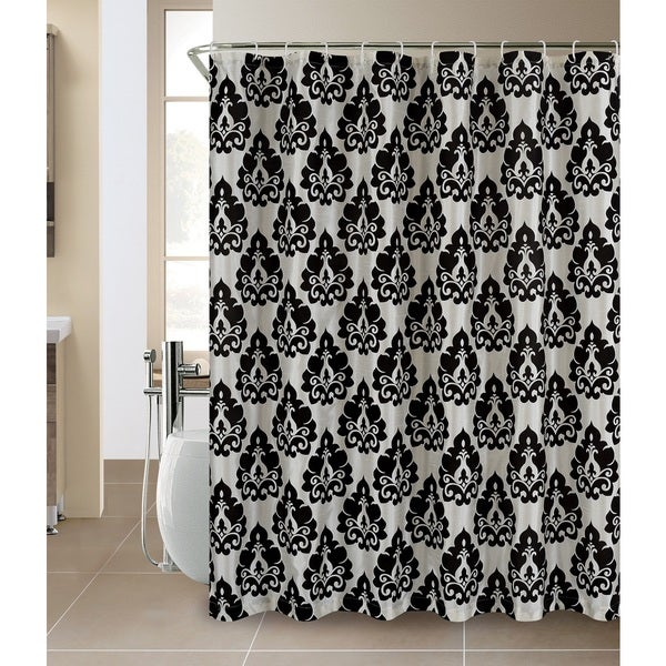 Kent Flocking Shower Curtain