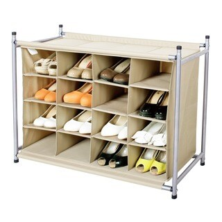 StorageManiac 16 Compartment Shoe Cubby