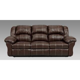 Brandan Bonded Leather Dual Reclining Sofa, Brown