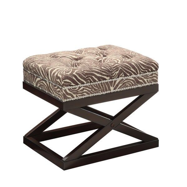 Christopher Knight Home Beige and Brown Animal Print Accent Bench