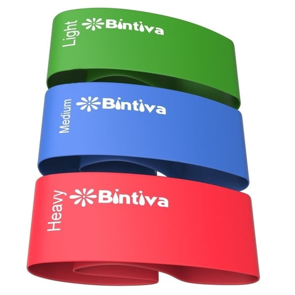 Bintiva Resistance Bands for All Workout Dvd's - Set of Three