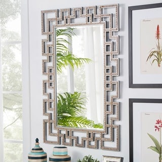 Marlowe Greek Key Frame Accent Wall Mirror