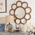 North Antique Flower Accent Wall Mirror
