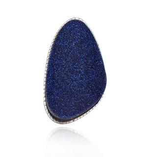 Sterling Silver Freeform Druzy Ring