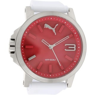 Puma Men's PU103462003 White Satin Analog Quartz Watch