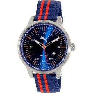 Puma Men's PU103641007 Navy Nylon Quartz Watch