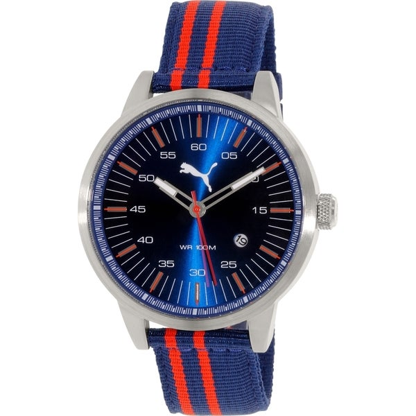 Puma Men's PU103641007 Navy Nylon Quartz Watch