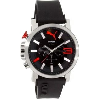 Puma Men's PU103981001 Black Silicone Quartz Watch