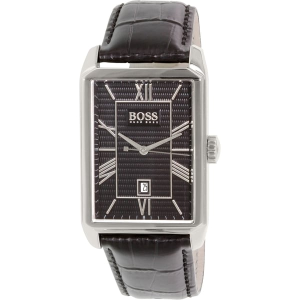 Hugo Boss Men's 1512968 Black Leather Quartz Watch