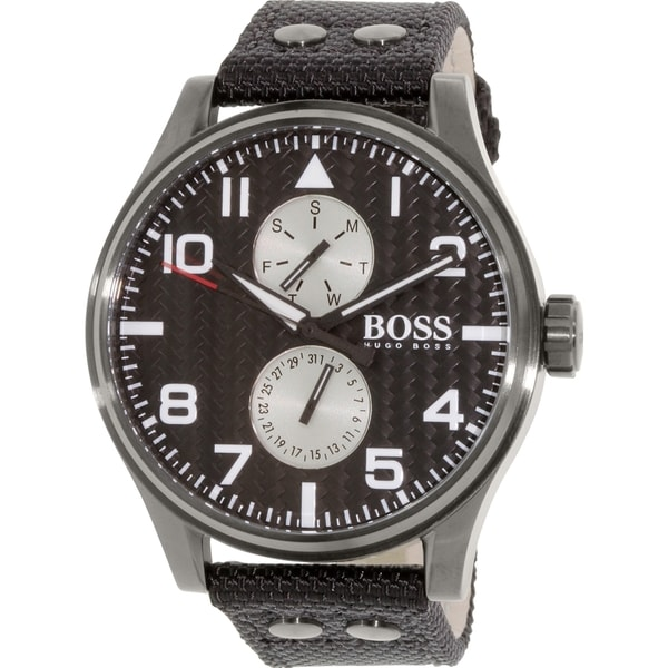 Hugo Boss Men's 1513086 Black Nylon Quartz Watch