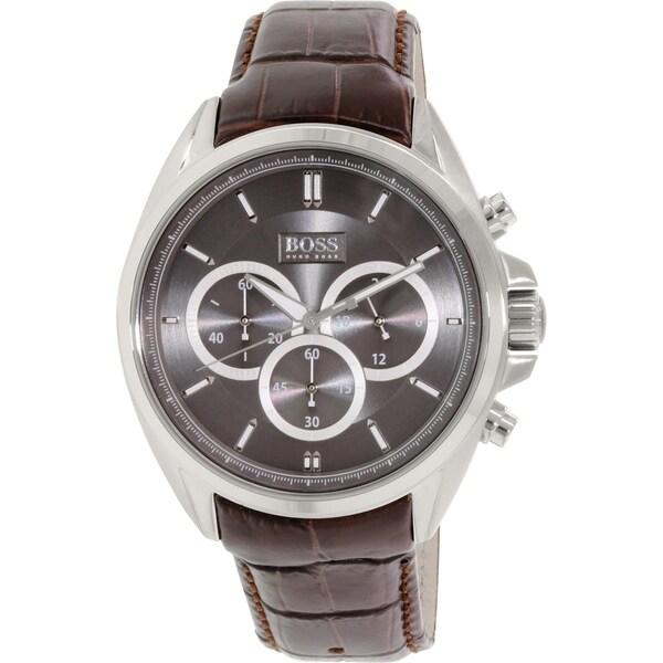 Hugo Boss Men's 1513035 Brown Leather Quartz Watch