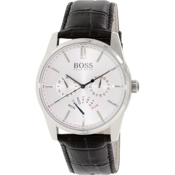 Hugo Boss Men's 1513123 Silver Leather Quartz Watch