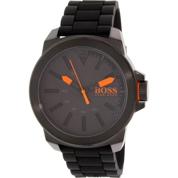 Hugo Boss Men's 1513004 Black Silicone Quartz Watch