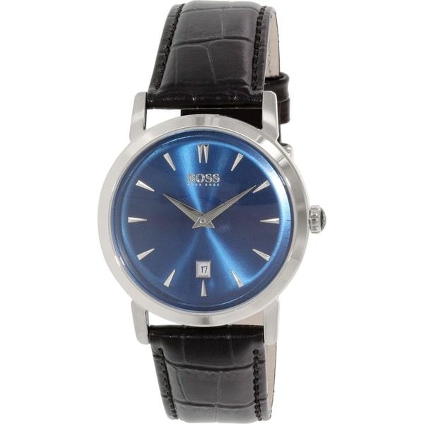 Hugo Boss Men's 1513091 Silver Leather Quartz Watch