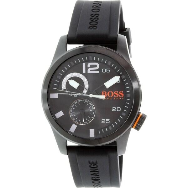 Hugo Boss Men's Orange 1513147 Black Silicone Quartz Watch