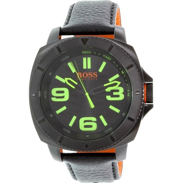 Hugo Boss Men's Sao Paulo 1513163 Black Leather Quartz Watch