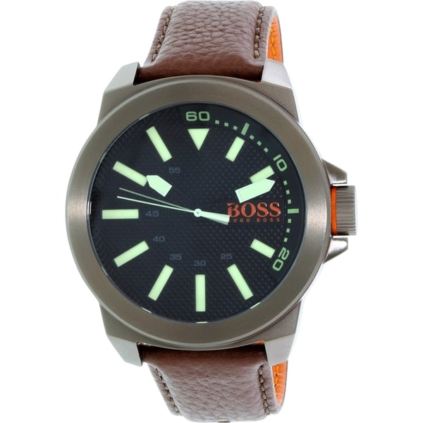 Hugo Boss Men's Orange 1513168 Brown Leather Quartz Watch