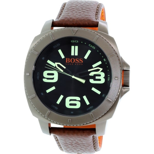 Hugo Boss Men's Orange 1513164 Brown Leather Quartz Watch
