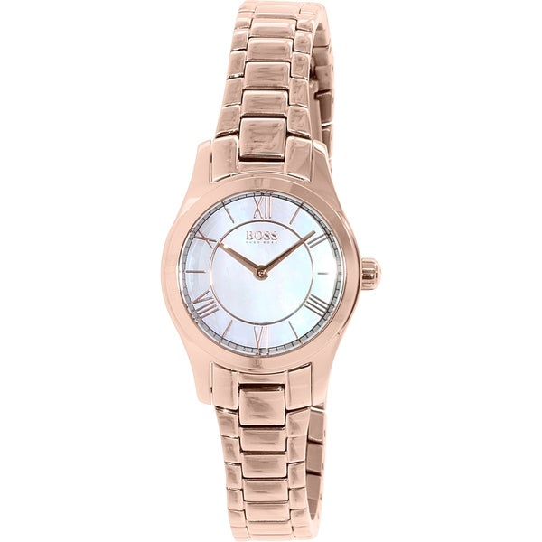 Hugo Boss Women's Ambassador 1502378 Rose Gold Stainless Steel Quartz Watch