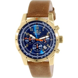 Invicta Men's Pro Diver 18926 Brown Calf Skin Quartz Watch