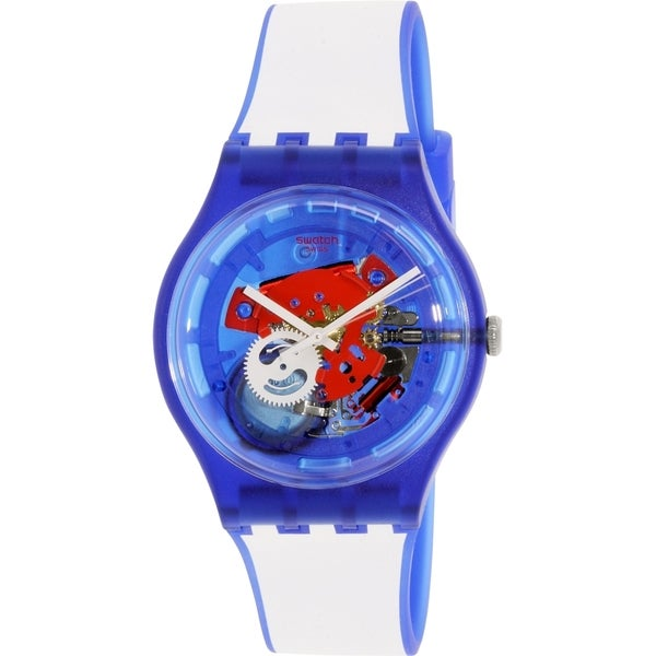 Swatch Men's Originals SUON112 Blue Silicone Swiss Quartz Watch