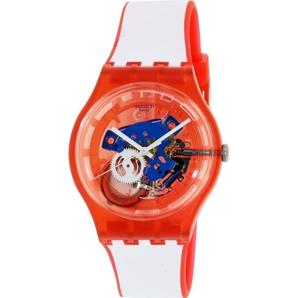 Swatch Men's Originals SUOR102 Red Silicone Swiss Quartz Watch