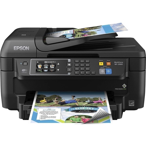 Epson WorkForce 2660 Inkjet Multifunction Printer - Color - Plain Pap (As Is Item)