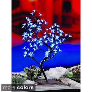 2-foot Blossom Tree 96 Blue LEDS UL Lights