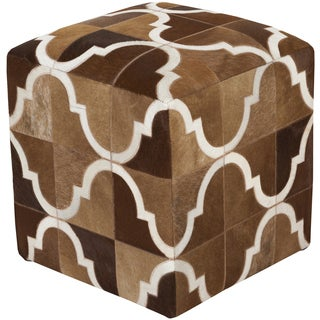 Geometric Zoro Square Hair On Hide 18-inch Pouf