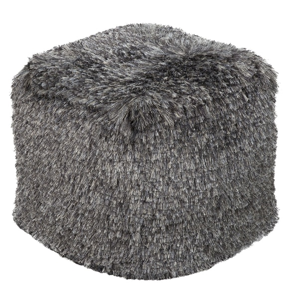 Solid Waco Square Polyester 18-inch Pouf