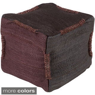 Geometric Thun Square Jute 18-inch Pouf