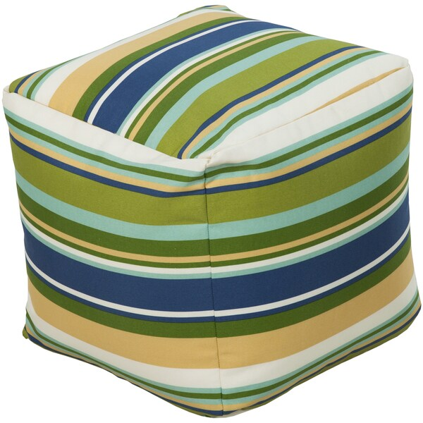 Striped Reze Square Polyester 18-inch Pouf