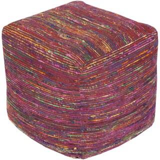 Striped Neci Square Chocho 18-inch Pouf