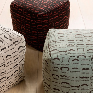 Print Leon Square Polyester 18-inch Pouf