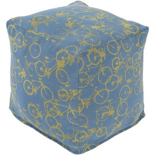 Print Lens Square Polyester 18-inch Pouf