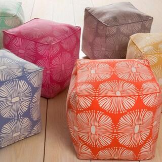 KD Spain: Floral Kent Square Cotton 18-inch Pouf