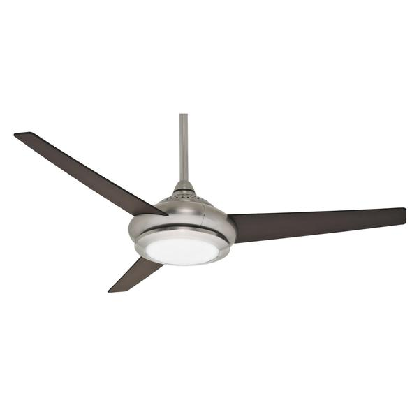 Casablanca 52-inch Tercera Tercera Brushed Nickel Expresso/ Smoked Walnut Reversible Veneer Exclusive 3-blade Ceiling Fan