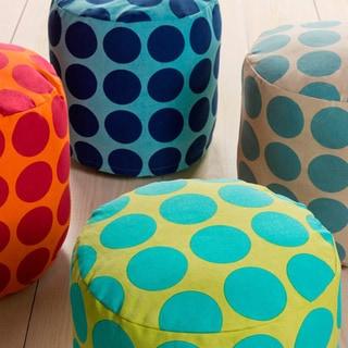 Polka Dots Graz Round Cotton 18-inch Pouf