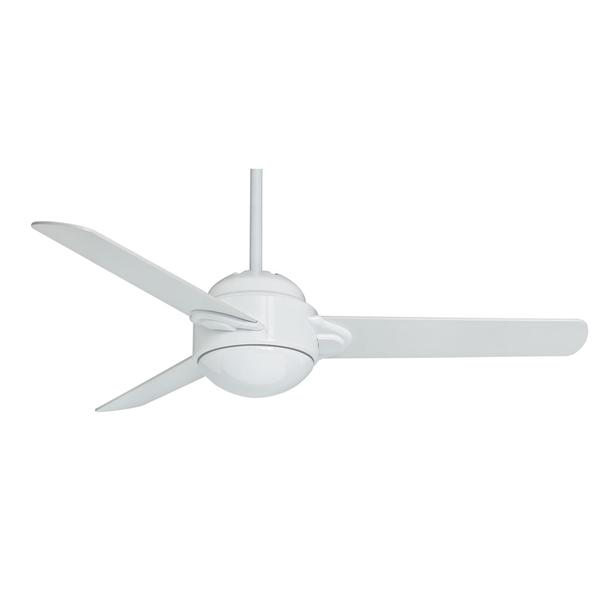 Casablanca 54-inch Trident Snow White Snow White Veneer Exclusive 3-blade Ceiling Fan