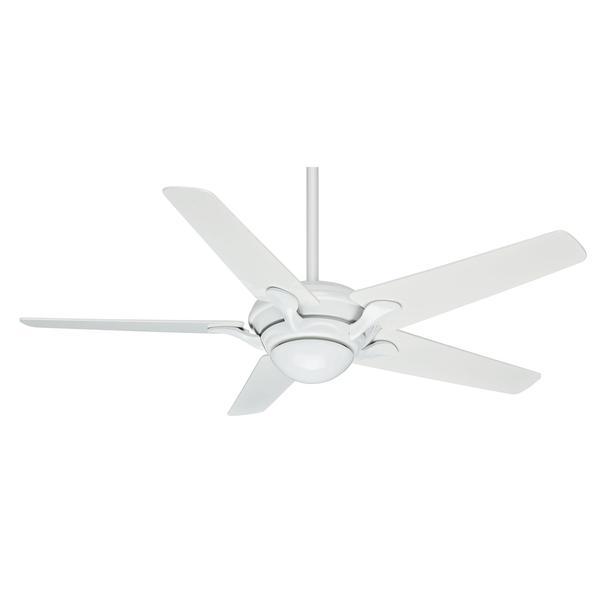 Casablanca 56-inch Bel Air Snow White Snow White Veneer Exclusive 5-blade Ceiling Fan