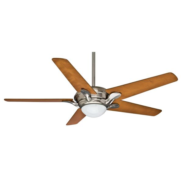 Casablanca 56-inch Bel Air Brushed Nickel Cherrywood Veneer Exclusive 5-blade Ceiling Fan