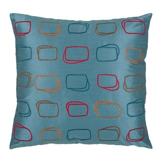 Rizzy Home Blue 18-inch Geometric Throw Pillow