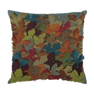 Rizzy Home Multi-colored 18-inch Mulit-colored Applique Throw Pillow