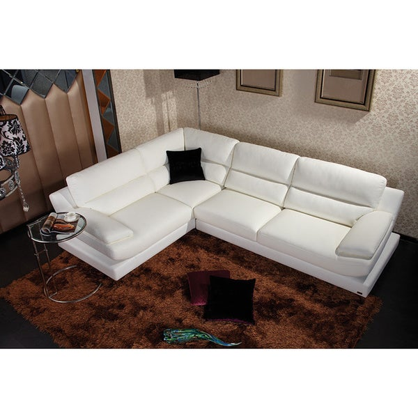 Divani Casa Clio - Modern Eco-Leather Sectional Sofa