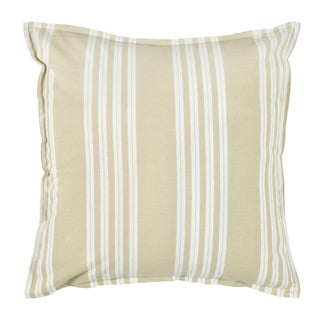 Rizzy Home Tan 18-inch Striped Throw Pillow