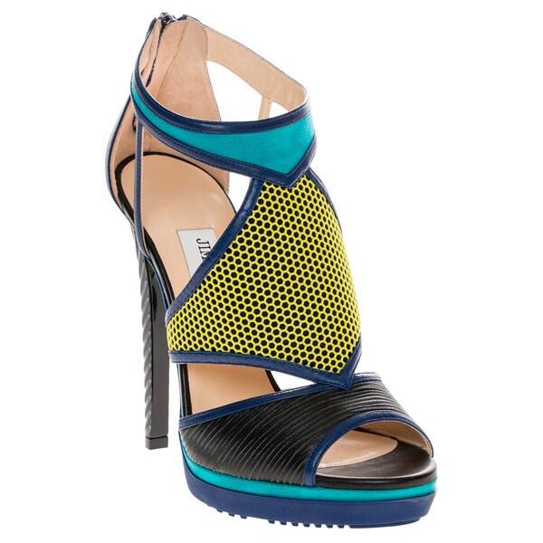 Jimmy Choo Lythe Leather/ Suede Platform Sandals