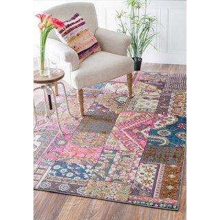 nuLOOM Abstract Patchwork Fancy Multi Rug (5'3 x 7'7)